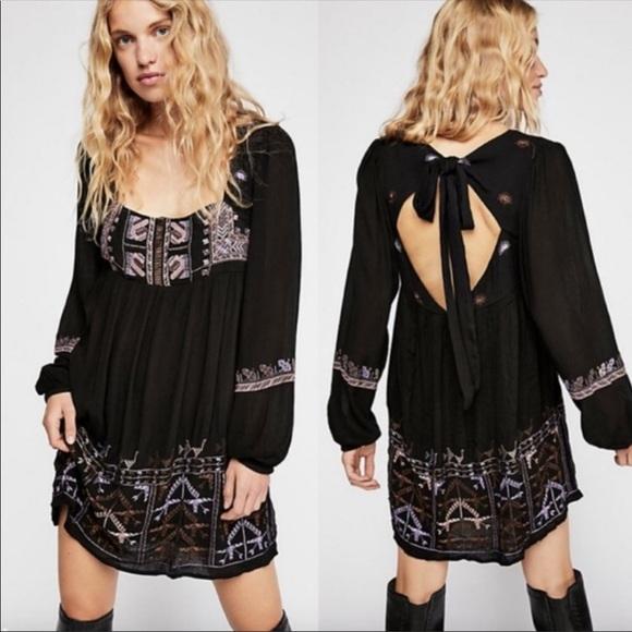 Free People Dresses & Skirts - Rhiannon Embroidered Mini Dress